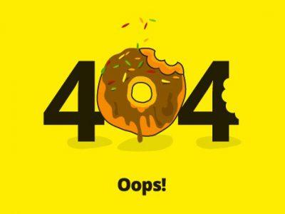 Creatividad en páginas de error 404