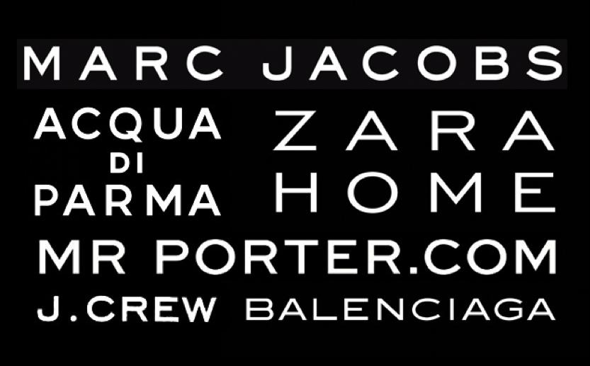tipografía de marcas de lujo