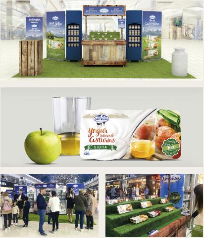 Presentación de producto en centro comercial