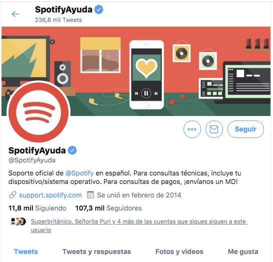 Fidelización de marca mediante redes sociales. Spotify