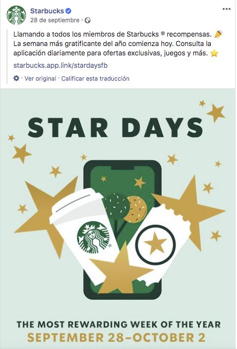 Fidelización de Starbucks mediante redes sociales