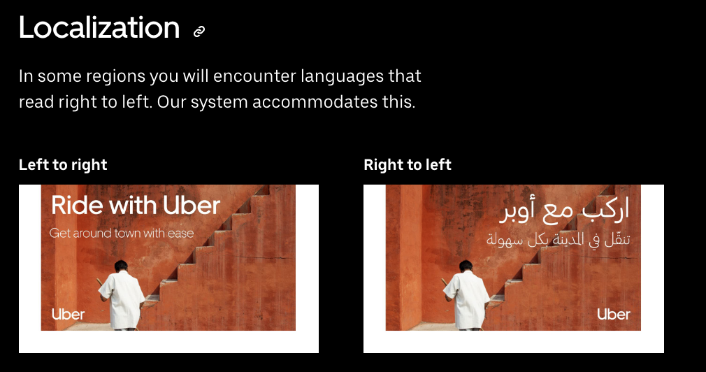 Brand book digital de Uber