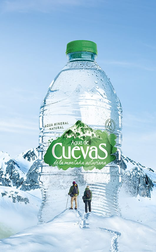 Campaña de comunicación del nuevo posicionamiento de agua de Cuevas.